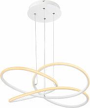 Suspension LED design incurvé plafonnier salon