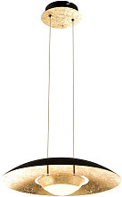 Suspension LED design plafond or noir salon