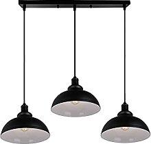 Suspension Luminaire 3 Lampes Vintage Lustre