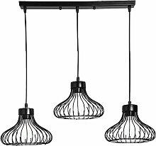 Suspension Luminaire Cage Industriel Vintage