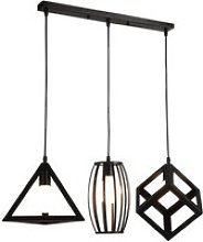 Suspension luminaire hombuy industrielle lustre