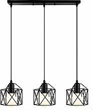 Suspension Luminaire Industrielle 3 Lampes Vintage