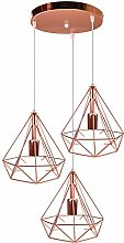 Suspension Luminaire Industrielle 3 Lampes Vintage