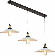 Suspension Luminaire Industrielle 3 Lumière -Ø22