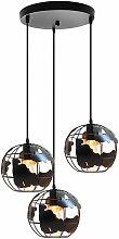 Suspension luminaire industrielle design cage