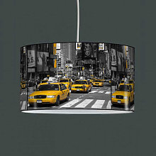 Suspension luminaire taxi jaune New York