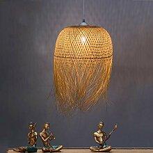 Suspension LuminaireVintage Lustre Bambou