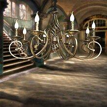 Suspension Lustre Rétro Pendentif Lampe E14 Fer