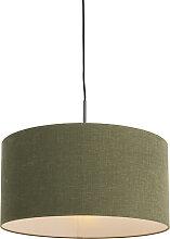 Suspension noire avec abat-jour vert 50 cm - Combi