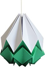 Suspension origami bicolore en papier taille L