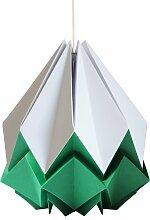 Suspension origami bicolore en papier taille M