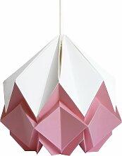 Suspension origami bicolore en papier taille S