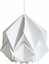 Suspension origami couleur unie en papier taille S