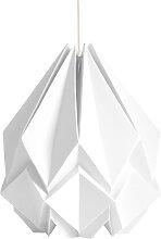 Suspension origami couleur unie en papier taille XL