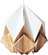 Suspension origami en ecowood et papier blanc