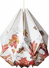 Suspension origami en papier motif automne taille M