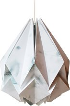 Suspension origami en papier motif hiver taille M