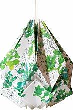 Suspension origami en papier motif printemps