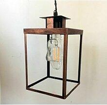 Suspension Physalis lanterne en métal cuivré