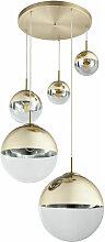 Suspension plafonnier boule de verre salon