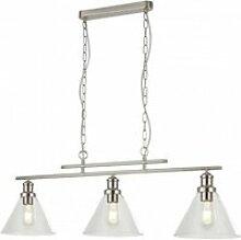 Suspension pyramid 3 ampoules abat-jour en verre