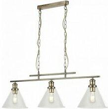 Suspension pyramide 3 ampoules ab abat-jour en
