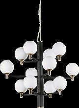Suspension Republique 12 lampes avec abat-jour en