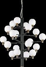 Suspension Republique 20 lampes avec abat-jour en