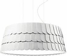 Suspension Roofer Ø 79 x H 32 cm - Fabbian blanc