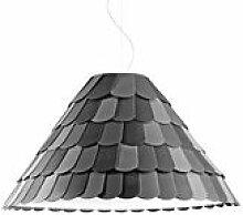 Suspension Roofer abat-jour conique - Fabbian gris
