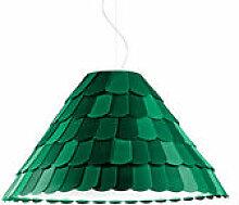 Suspension Roofer abat-jour conique - Fabbian vert