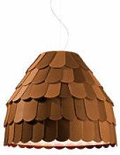 Suspension Roofer - Fabbian marron en matière