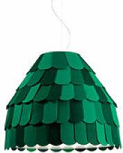 Suspension Roofer - Fabbian vert en matière