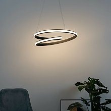 Suspension ruban LED design - Keane - Noir