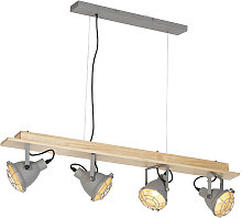 Suspension salle a manger industrielle 4 lumières