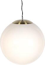 Suspension scandinave verre opale 50 cm - Ball 50
