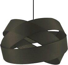 Suspension textile gris D38cm