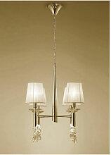 Suspension Tiffany 4+4 Ampoules E14+G9, doré avec
