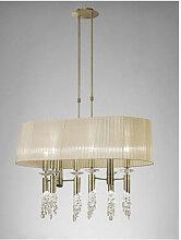 Suspension Tiffany 6+6 Ampoules E27+G9 ovale,
