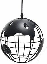 Suspension Vintage Industrielle Globe Lampe de