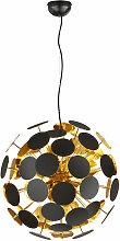 Suspensions 6 lampes design Discalgo Noir Métal