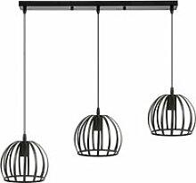 Suspensions industrielle lustre abat-jour cage