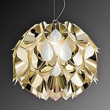 SWNN Lustre doré à LED - Lampe chaude - Style