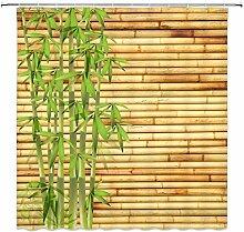 Swooggle Rideau de Douche en Bambou Vert Plante