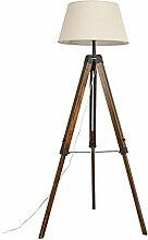 SXRKRZLB Chambre Salon Solide Wood Plancher Lampe