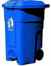 SxsZQ Poubelle bleue, poubelle publique du côté