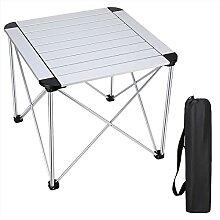 Synlyn Table de Camping Pliante Alu Table Pliable