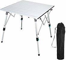 Synlyn Table pliante en aluminium, table de