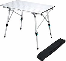 Synlyn Table pliante pliante Table de camping en