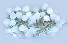 Sysled - Guirlande LED 10 mètres 100 boules blanc